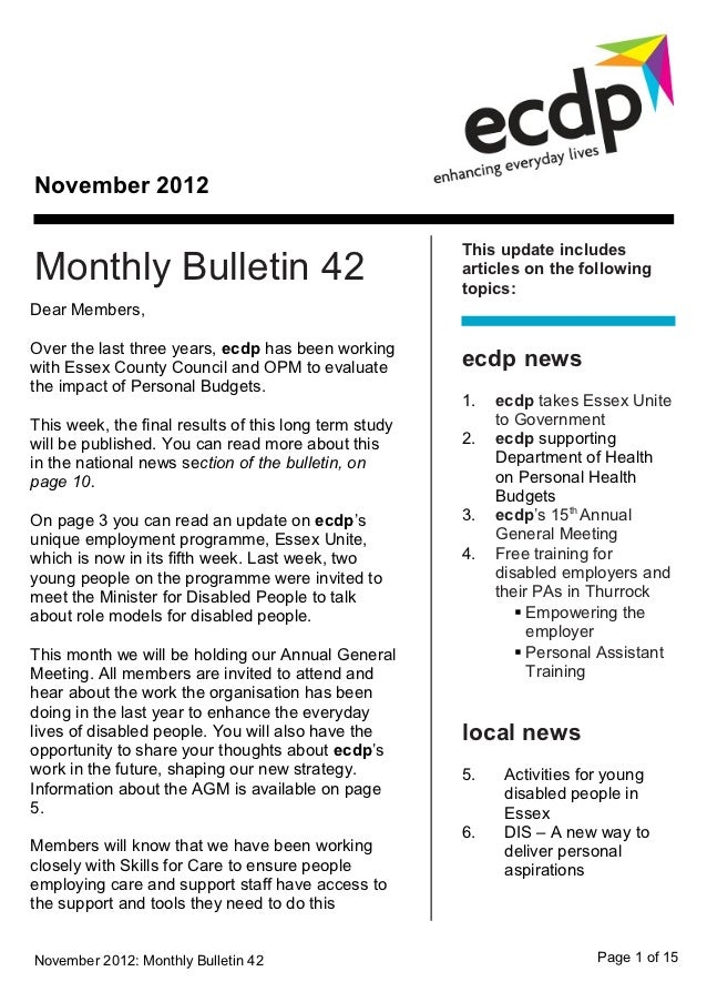 November 2012                                                       This update includesMonthly Bulletin 42               ...