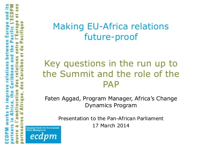 Making EU-Africa Relations Future Proof: Key questions in the run up to the Summit and the role of the PAP