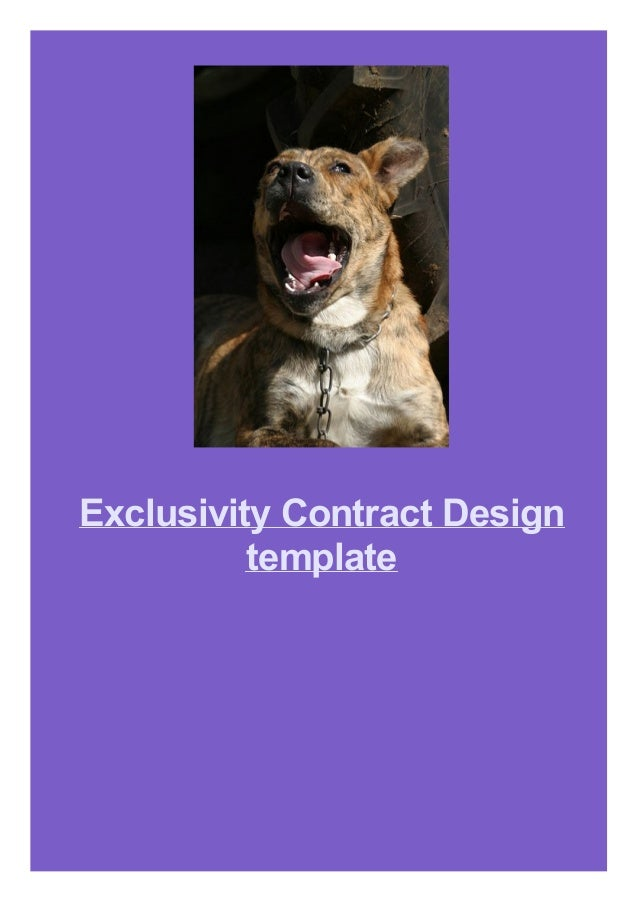 Exclusivity Contract Design template