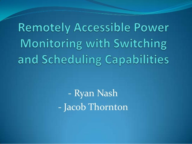 - Ryan Nash - Jacob Thornton