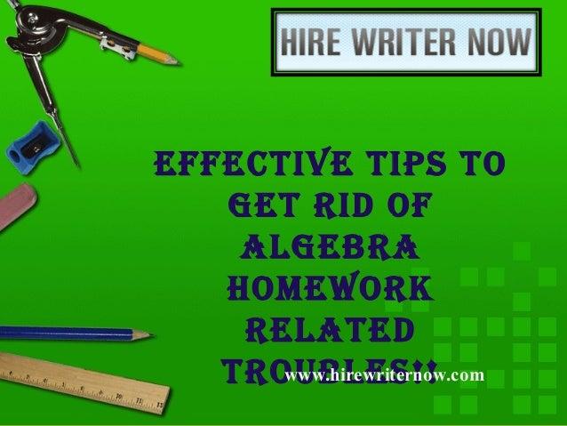 Get rid of homework