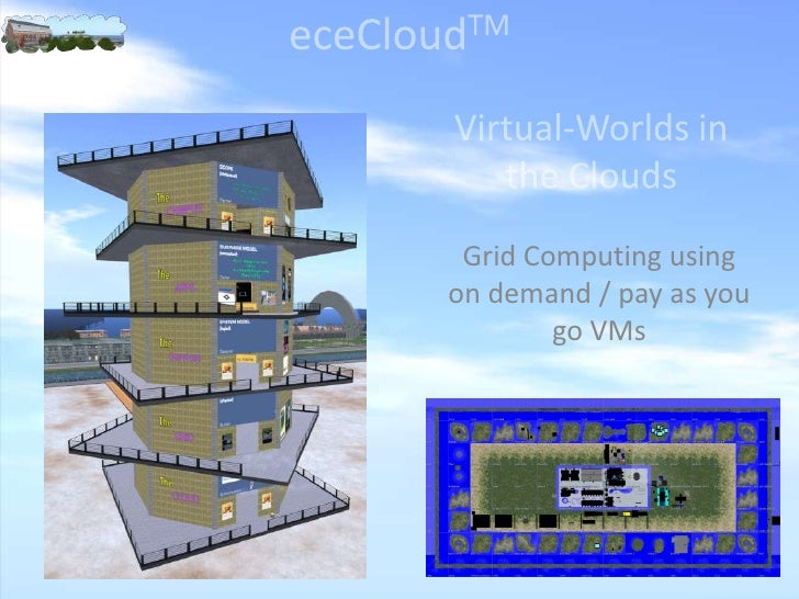 eceCloudTM<br />Virtual-Worlds in the Clouds<br />Grid Computing using on demand / pay as you go VMs<br />