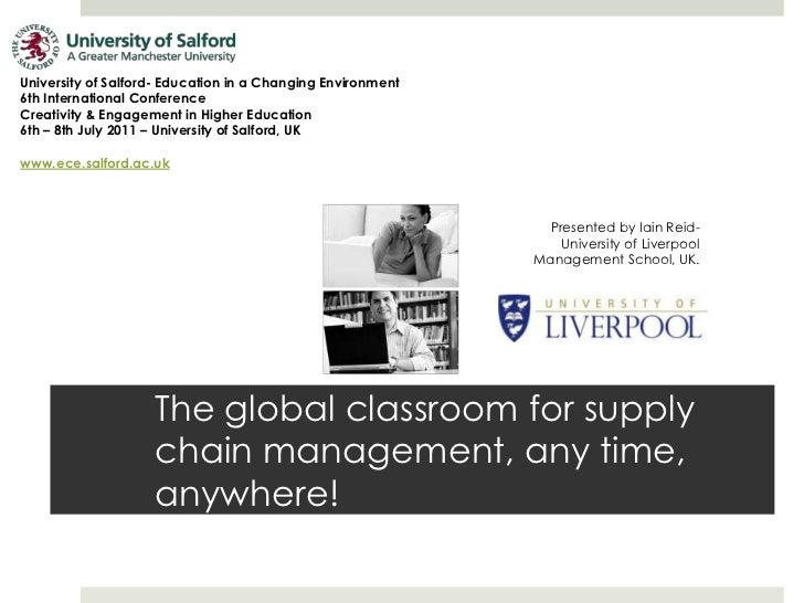University of Salford- Education in a Changing Environment <br />6th International Conference<br />Creativity & Engagement...