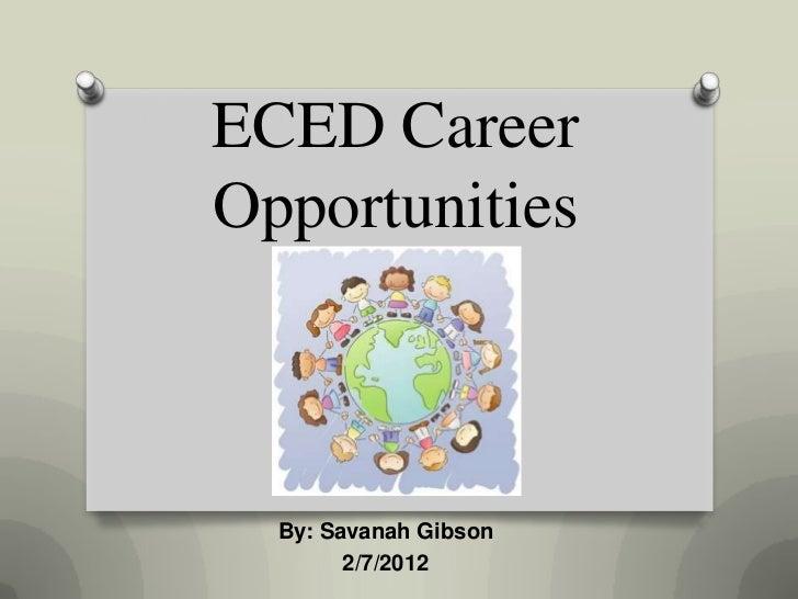 Eced career opportunities
