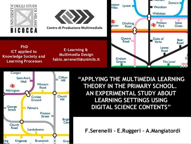 """""""APPLYING THE MULTIMEDIA LEARNING THEORY IN THE PRIMARY SCHOOL. AN EXPERIMENTAL STUDY ABOUT LEARNING SETTINGS USING DIGITA..."""