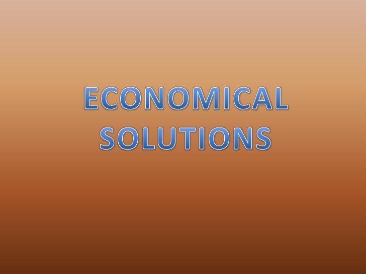 Ecenomical solutions  comenius