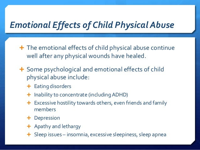 effect of substance abuse on child upbringing An overview of the potential long-term effects of child abuse and neglect substance abuse problems or engaging in the health effects of childhood.