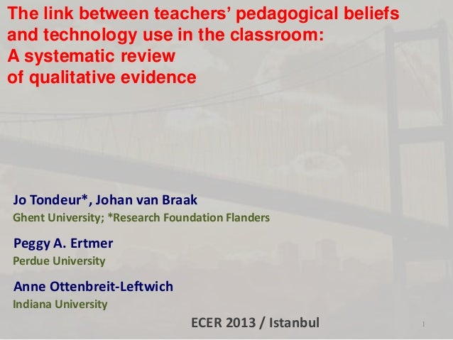 Understanding the relationship between pedagogical beliefs and technology use: A systematic review of qualitative evidence