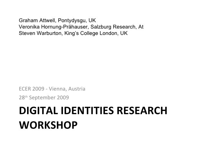 Digital Identities Research Workshop - ECER 2009
