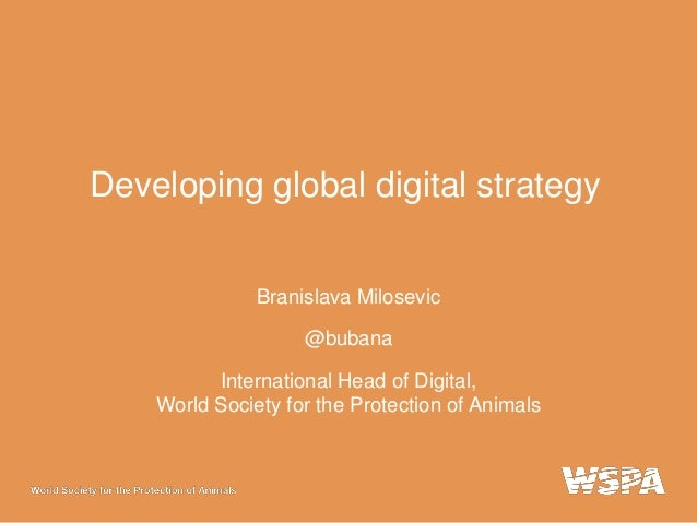 Developing a global digital strategy