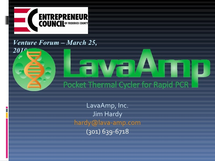LavaAmp Venture Forum Presentation
