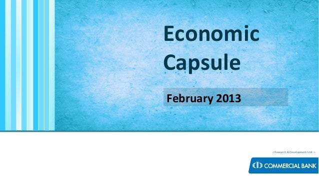 < Research & Development Unit > Economic Capsule February 2013