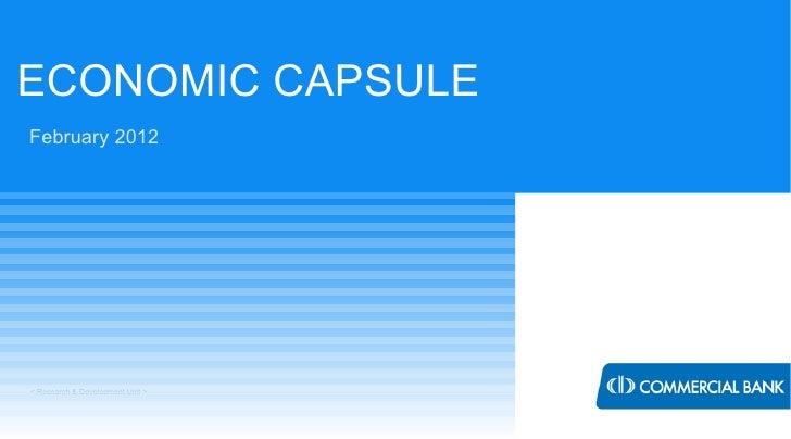 ECONOMIC CAPSULEFebruary 2012< Research & Development Unit >