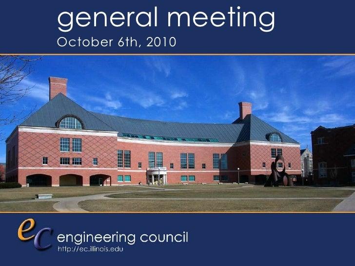 EC General Meeting - 2010.10.06