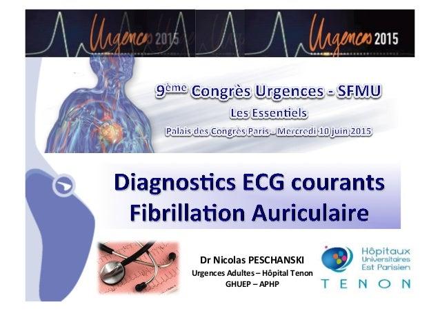 •CHU_ Hôpitaux de Rouen - page 1 Dr  Nicolas  PESCHANSKI   Urgences  Adultes  –  Hôpital  Tenon   GHUEP ...