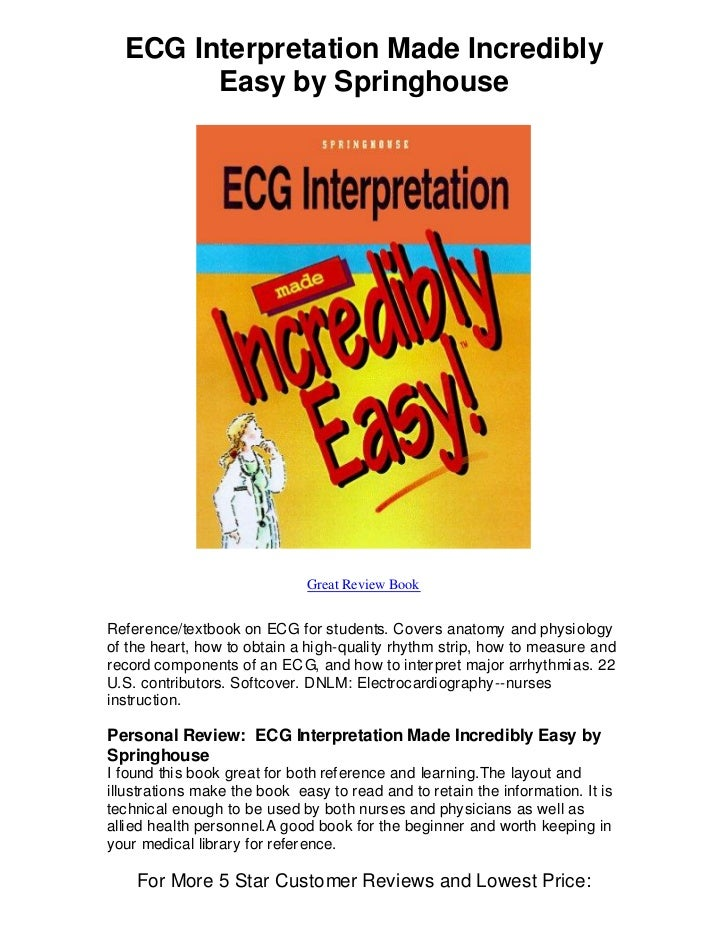 ECG Interpretation Made Incredibly Easy PDF 6th Edition Free Download