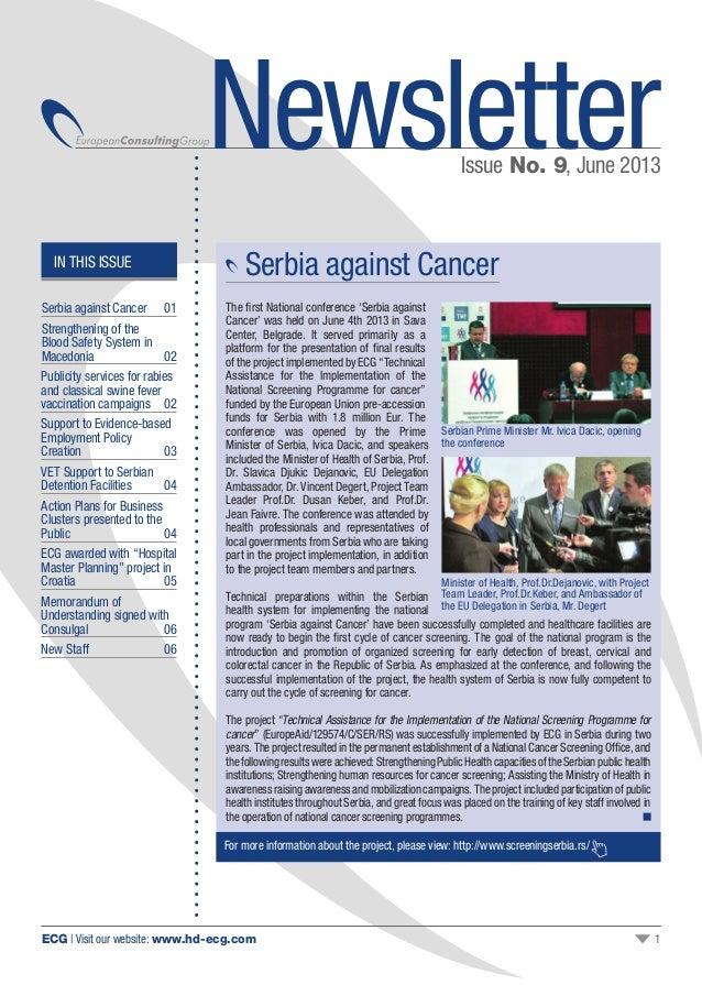 Ecg issue 09 newsletter