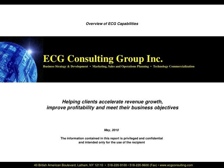 ECG Consulting Group Inc.                                                                                  Cover Page     ...