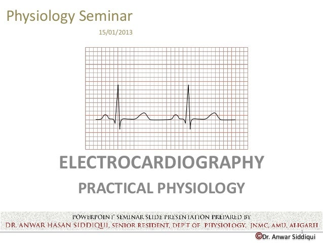©Dr. Anwar SiddiquiPhysiology Seminar15/01/2013ELECTROCARDIOGRAPHYPRACTICAL PHYSIOLOGY1