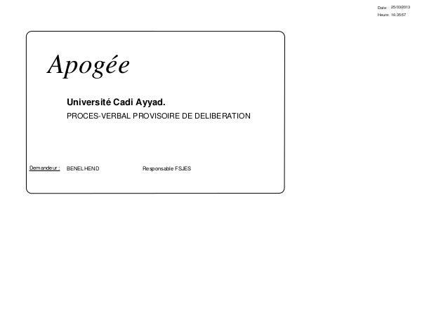Date:   25/03/2013                                                         Heure: 16:35:57      Apogée              Univer...