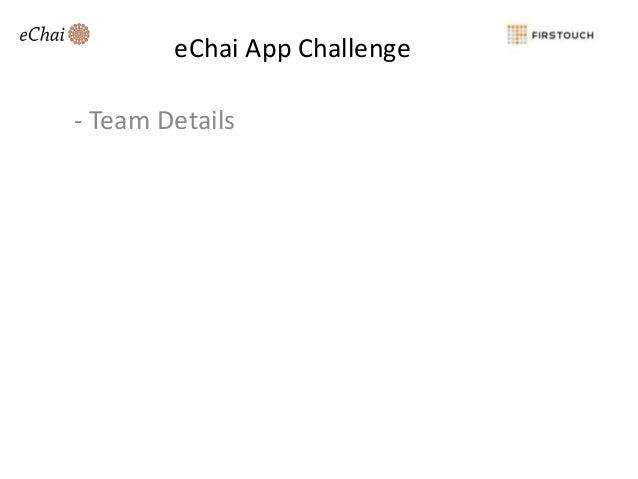 eChai App Challenge  - Team Details