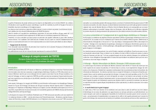 Revue pour les Internes de Gynécologie ObstétriqueRevue pour les Internes de Gynécologie Obstétrique12 13 La grille d'éval...