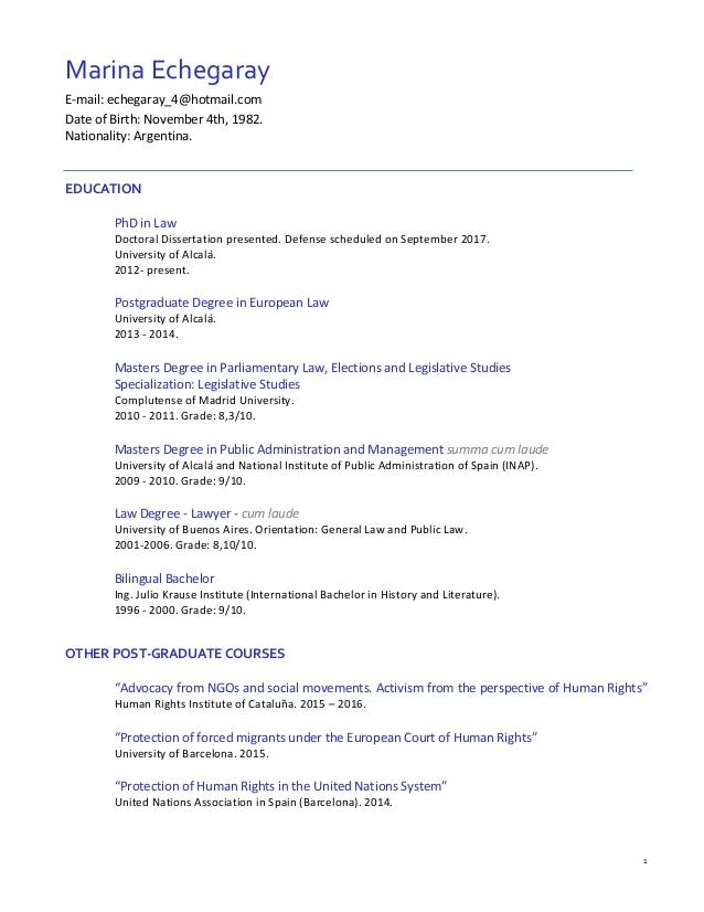Resume Format English – Resume Format English