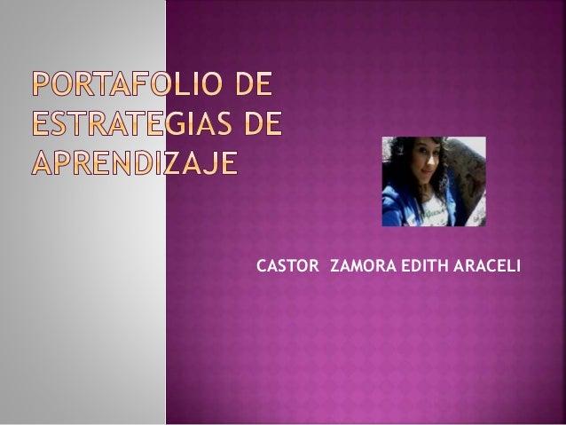 CASTOR ZAMORA EDITH ARACELI