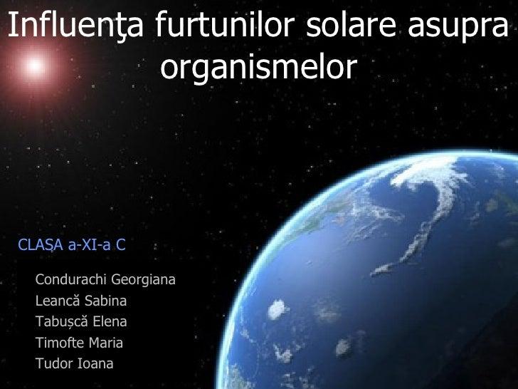 [Echipa3] furtunile solare