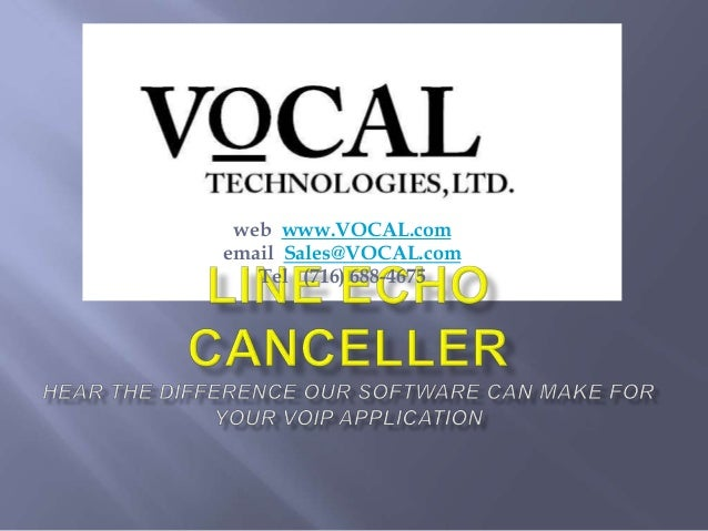 web www.VOCAL.comemail Sales@VOCAL.comTel (716) 688-4675