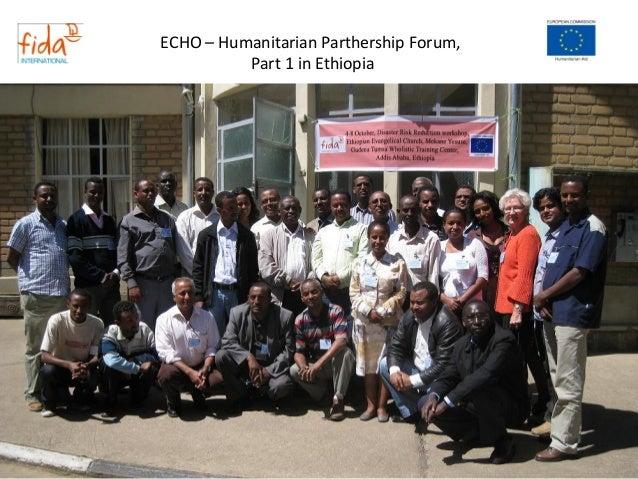 Echo – humanitarian parthership forum 1