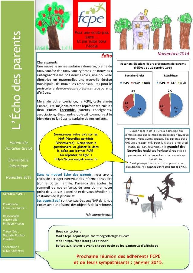 Nous contacter :  Mail : fcpe.republique.fontainegrelot@gmail.com  Web: http://fcpe-bourg-la-reine.fr  Boîtes aux lettres ...