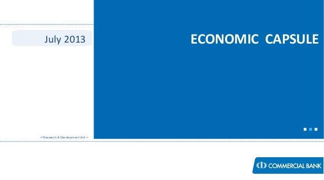 Economic Capsule - JULY 2013