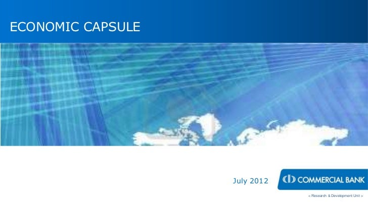 Economic Capsule july 2012