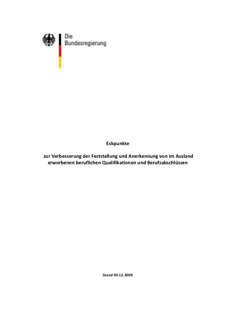 Eckpunkte                                          zurVerbesserungderFeststellungundAnerkennungvonimAusland  ...
