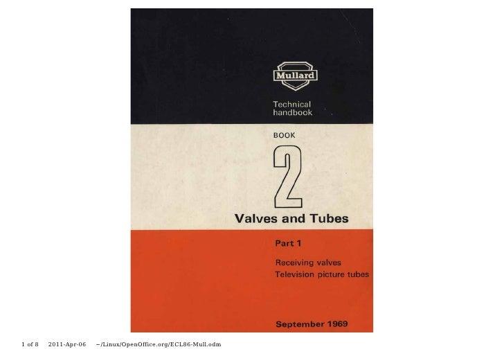 Valve & Amplifier Design, ECL86 Data, Mullard Valves
