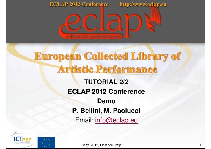 TUTORIAL 2/2 (of the second part) ECLAP 2012 Conference, IPR management, IPR wizard, groups and aggregations
