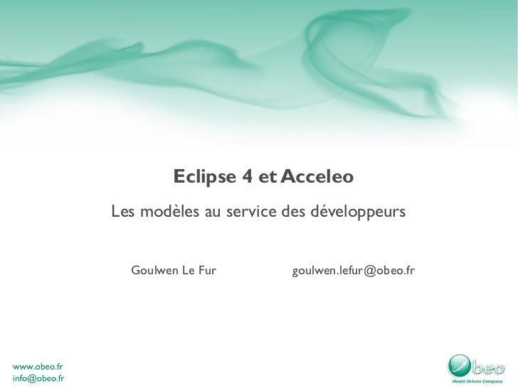Eclipse4 et acceleo