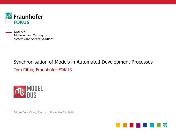 Verteilte Synchronisierung von Modellen in automatisierten Entwicklungsprozessen