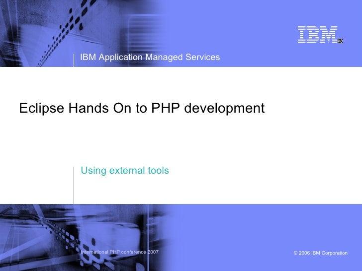 Eclipse Hands On - Handling external tools