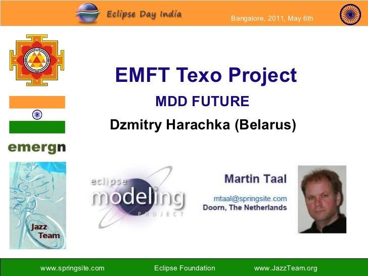 EMFT Texo Project MDD FUTURE Dzmitry Harachka (Belarus)