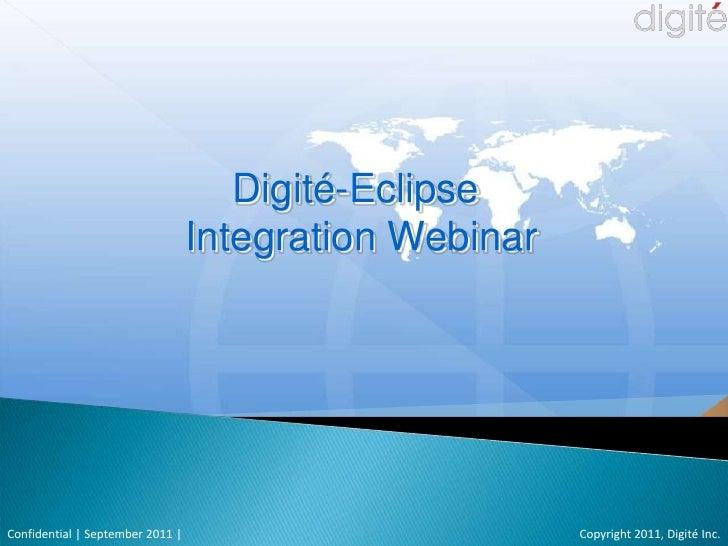 Digite - Eclipse Integration