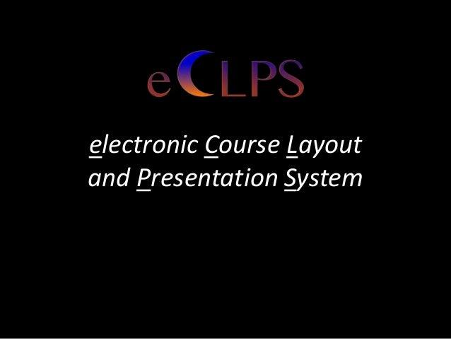 ECLPS Workshop-2013 Teaching with Technology Fair