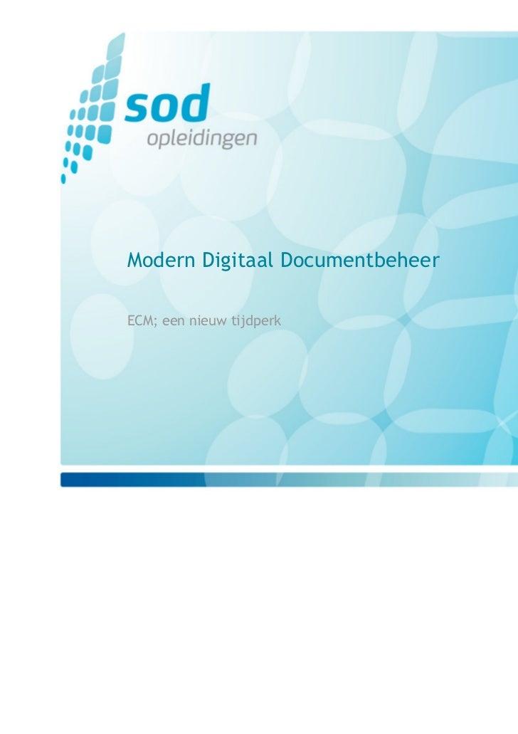 Modern Digitaal Documentbeheer