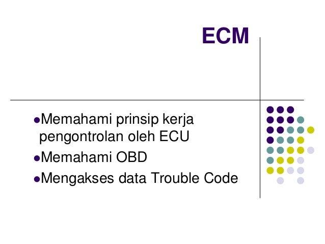 ECMMemahami prinsip kerjapengontrolan oleh ECUMemahami OBDMengakses data Trouble Code