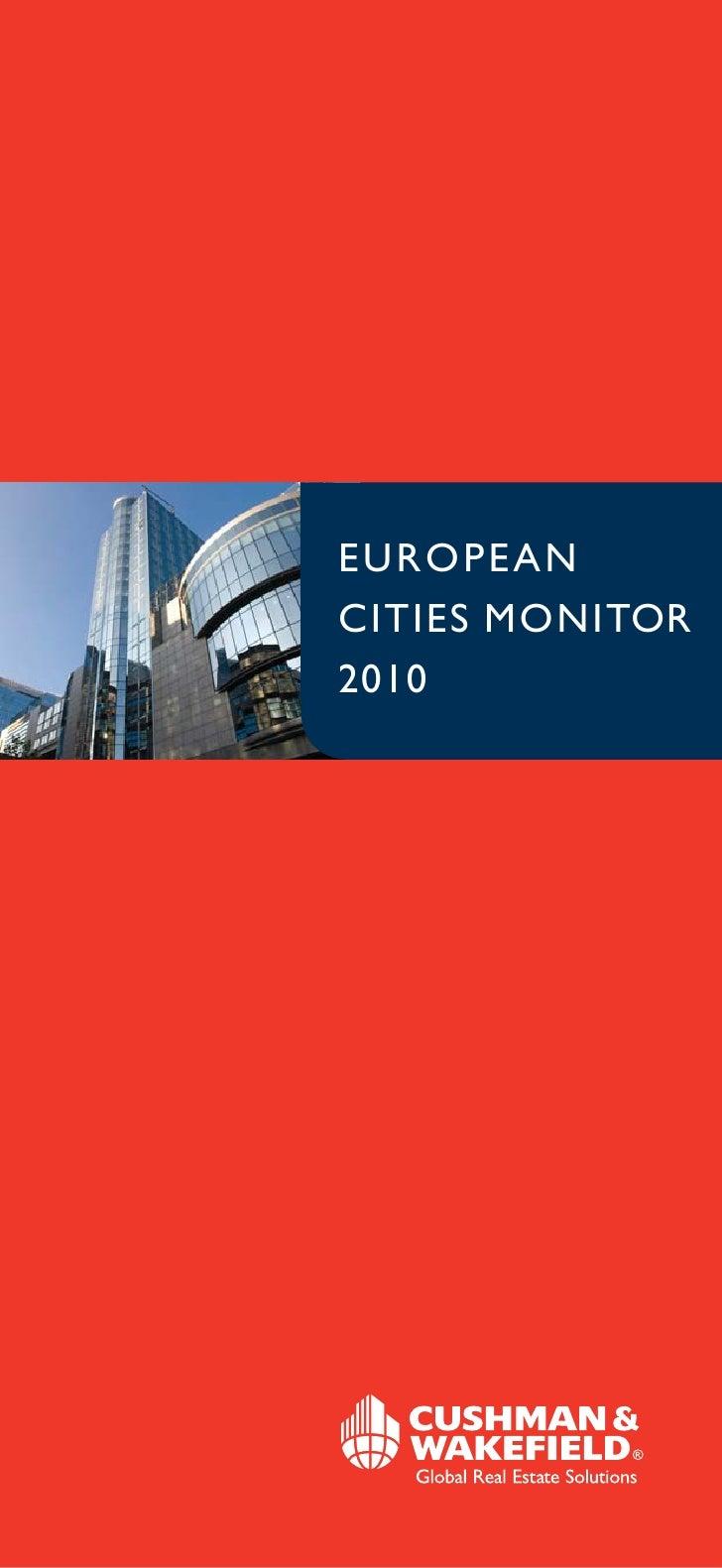 EUROPEAN CITIES MONITOR  2010 Full Version