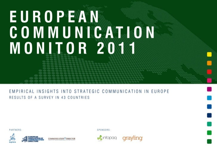 European Communication Monitor 2011 - ECM 2011 - Results