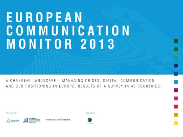 European Communication Monitor - ECM 2013 - Results