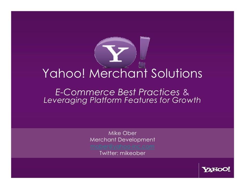 eCommerce Summit Atlanta Yahoo Small Business