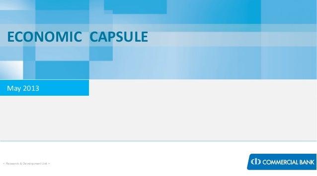 Economic Capsule - May 2013